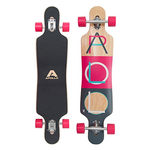 Apollo Longboard Special Edition tavola Completa, con Cuscinetti a Sfera ABEC High Speed, Drop-Through Freeride Skating Cruiser Boards