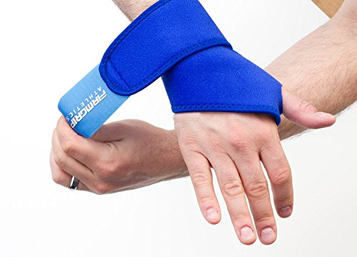 2 Pack FirmGrip Athletics Wrist Support Straps Wraps Bands For Lifting Crossfit Workouts Sports Men and Women - Blue