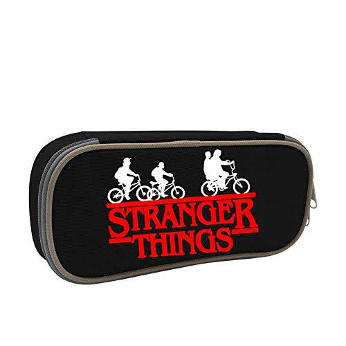 Stranger Things Logo Students Canvas Pencil Case Durable Pen Bag with Zipper