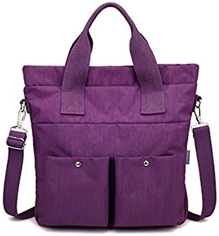 Bloomerang Top-Handle Bag Handbags Women Famous Brand Nylon Big Shoulder Beach Bag Casual Tote Female Purse Sac Bolsa Feminia color Purple