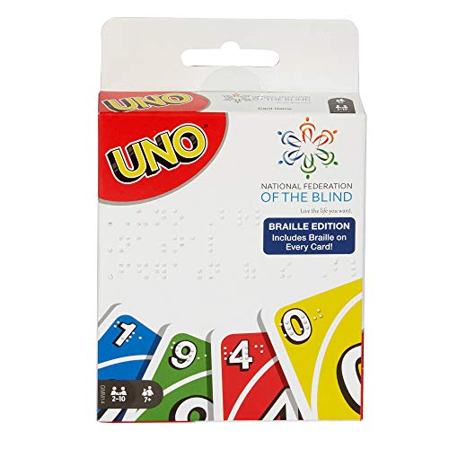 Mattel Games UNO Braille