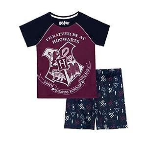 HARRY POTTER Pijamas de Manga Corta para Niñas Hogwarts 2