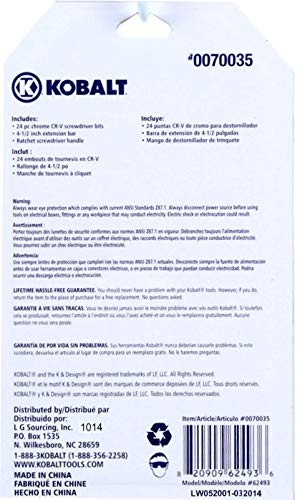 Kobalt 26- Piece Ratcheting Precision Screwdriver Set