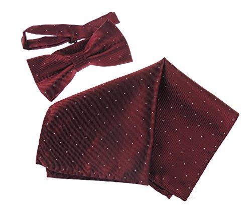 Glamour Girlz Corbata negra para hombre, para boda, novio o de noche, con purpurina plateada, juego de pajarita y pañuelo de bolsillo, en más de 20 colores