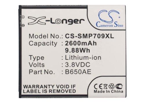 CS-SMP709XL Batteria 2600mAh compatibile con [SAMSUNG] Galaxy Beam 2, Galaxy Mega 5.8, Galaxy Mega 5.8 Plus Duos, Galaxy Mega Duos, GT-G3858, GT-I9150, GT-I9152, GT-i9152P, GT-i9158, GT-Z9000, GT-Z90