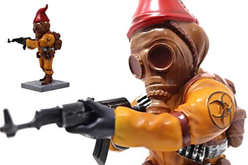 Chernobyl Gasmask Combat Gnome - Funny Unique Fallout Garden Gnomes Massacre - a Great Gardening...
