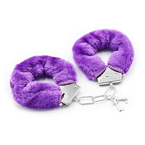 Generi c gift Plush Handcuffs Keys Toy Police Costume Prop Accessories Halloween Party toy purple FCFC18187