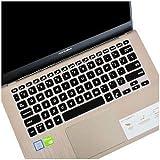 Saco Keyboard Protector Silicone Skin Cover for Asus VivoBook 14 X412DA 14 inch Laptop - Black