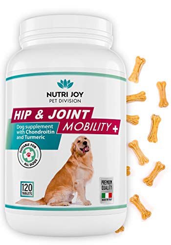 NutriJoy Chewable Tablets for Dogs Mobility plus Hip and Joint Dog supplement - Turmeric for Dogs, Dog Joint Care for Dogs - All Natural Ingredients