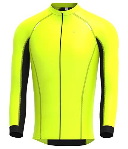 Deportes Hera Ropa Ciclismo Maillot Windstopper térmico Camiseta Corta Viento de Ciclistas Maillot Mangas largas