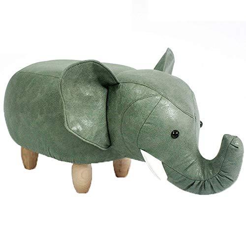 Preisvergleich Produktbild CAGYMJ Kinderspielzeug Hocker, Cartoon-Elefant Kunstleder Fußhocker, Wohnzimmer Sofa Schlafzimmer Möbel, Grün