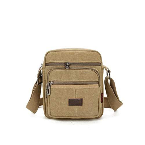 2021 Canvas Crossbody Bolso de hombro para hombres con cremallera casual de viaje masculino Messenger Pack moda pequeña bolsa para hombre