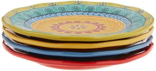 Certified International Valencia Dessert Plates (Set of 4), 8.75', Multicolor