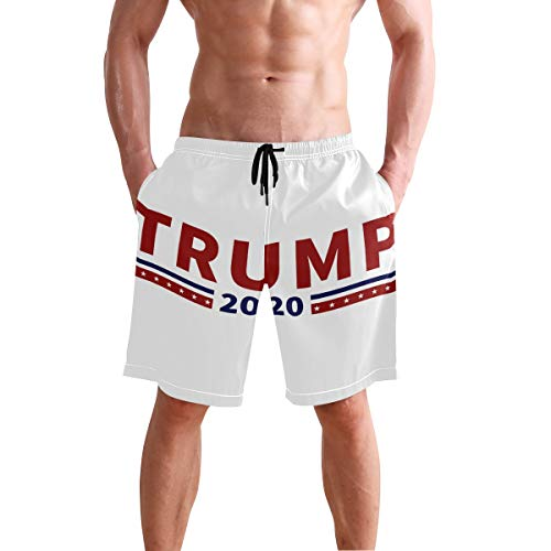 Lecintevro Mens Quick Dry Beach Shorts Swim Trunks Swimsuits Board Shorts Trump 2020