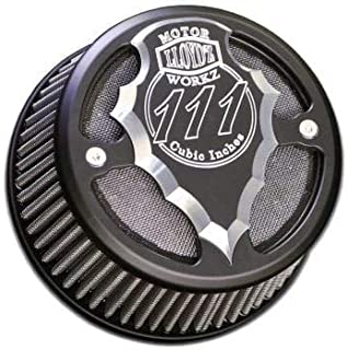 Lloydz Indian Round Facet Cut Airbox Black Contrast W/Black Filter Element