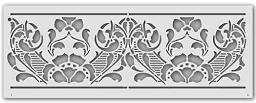 Wandschablone Jugendstil-Band (56 x 21 cm)