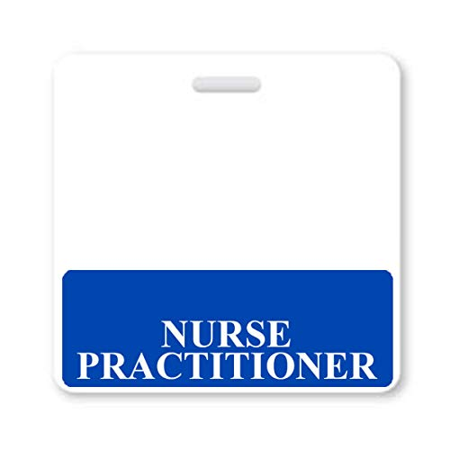 Nurse Practitioner Badge Buddy - Heavy Duty Horizontal Badge Buddies for Nurse Practitioners - Spill & Tear Proof Cards - 2 Sided USA Printed Quick Role Identifier ID Tag Backer by Specialist ID