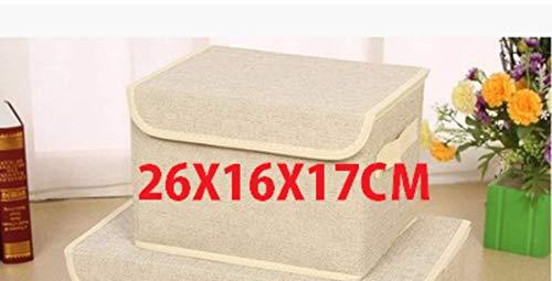 QUK Foldable Non-Woven Fabric Storage Box Clothes Organizer Underwear Socks Bra Books Toys Storage Bins Cosmetics Case 2 Size | organizer Underwear | fabric Storage Boxstorage Box