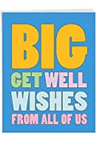 NobleWorks - Big Funny Group Get Well Card (8.5 x 11 Inch) - Jumbo Feel Better Soon from All of Us, Hospital, Sick - Big Get Well Wishes J2721GWG-US [並行輸入品]