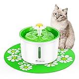 isYoung Fontanella Floreale per Gatti Distributore Automatico d'Acqua da 1.6L per Animali Domestici 3 modalità di Flusso dell'Acqua con Sistema di Filtraggio