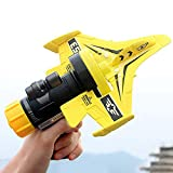 QUNANEN Bubble Catapult Plane Toy Airplane, One-Click Ejection Model Foam Airplane Hand Throwing Slalom Catapult Foam Airplane Children Outdoor Pistol Launcher Gliding Aircraft (Multicolor)