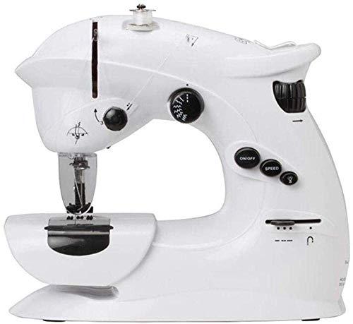 LDLL Naaimachine, draagbaar, kleine naaimachine met elektrische naaimachine, draagbaar met instelbare druk, gebruikt als stof, voor kinderen, draagbaar