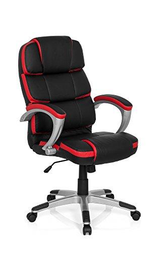MyBuero managersstoel GAMING PRO BY 100 kunstleer zwart/rood comfortabele racing bureaustoel met armleuningen 722130