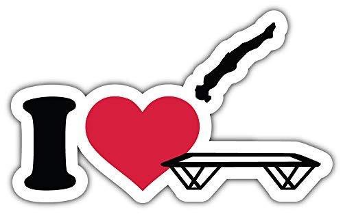 SkyBug I Love Trampoline Bumper Sticker Vinyl Art Decal voor Auto Truck Van Wandraam (24 X 16 cm)