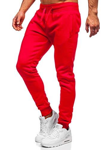 BOLF Herren Sporthose Jogginghose Trainingshose Fußballhose Fitnesshose Jogger Sweathose Jogpants Sweatpants Slim Fit Street Style J.Style XW01-A Rot(Hell) XXL [6F6]