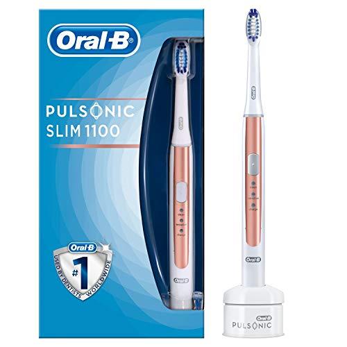 Oral-B Pulsonic Slim 1100 Elektrische Schallzahnbürste, mit Timer und Aufsteckbürste, roségold