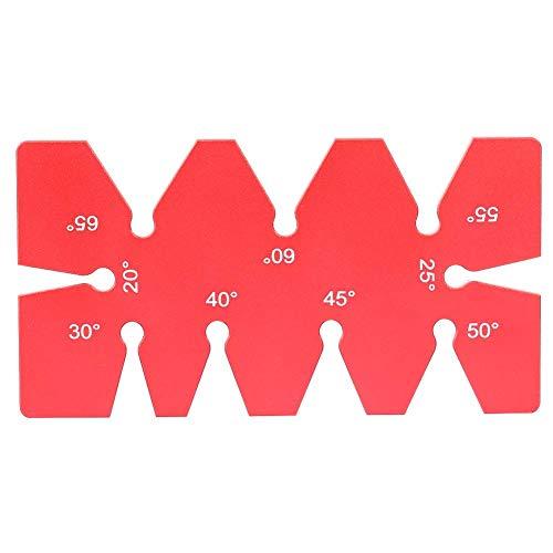 Herramienta de plantilla de ángulo - 3.62 * 1.93 * 0.16 pulgadas Herramienta de plantilla de ángulo de aleación de aluminio Calibrador de ángulo Regla de ángulo de diseño de carpintería para carpinter