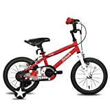 STITCH Kids Bike for 4 5 6 Years Girls & Boys,16 Inch Child Bicycle with stabilisers, 95% Assembled,Lightweight, Red