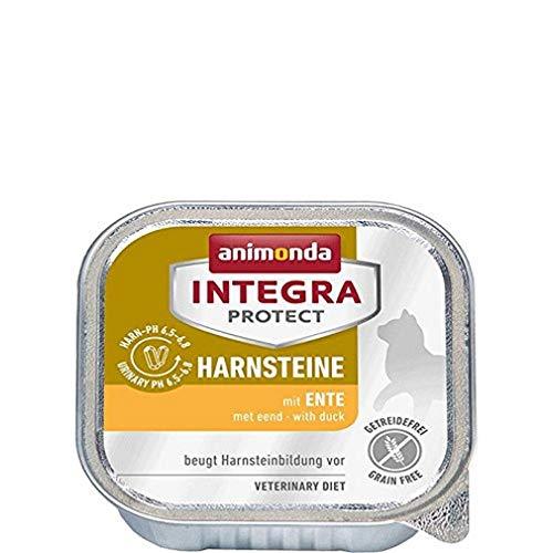 animonda Integra Protect Harnsteine, Spezial-Katzenfutter, Nassfutter zur Vorbeugung eines Harnweginfekts, mit Ente , 16 x 100 g
