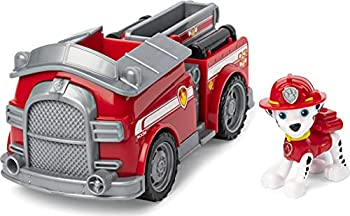 Paw Patrol Marshall's Fire Engine Vehicle with Collectible Figure for Kids Aged 3 and Up