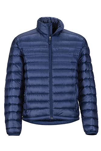 Marmot Men's Lightweight, Water-Resistent Zeus Jacket, 700 Fill Power Down, Arctic Navy, Medium