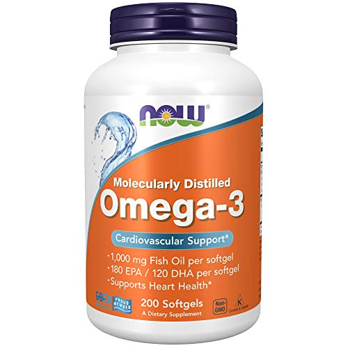 Now Supplements Omega-3 180 EPA / 120 DHA, Molecularly Distilled