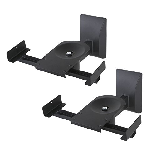 NEG Lautsprecher-Halterung (Paar) Beam201-SC (schwarz) Boxen-Rack/Träger neigbar/schwenkbar/drehbar (Tragkraft bis 25kg)