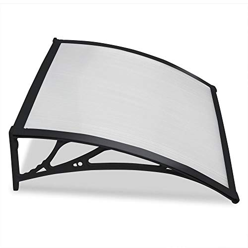 Yaheetech Outdoor Cover Door Window Garden Canopy Patio Porch Awning Rain Shelter,Black