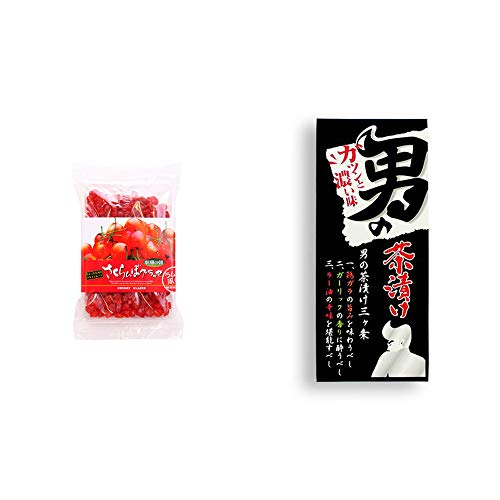 [2点セット] 収穫の朝 さくらんぼグラッセ ラム酒風味(180g)・男の茶漬け(4.8g×8袋)