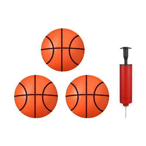 Stobok - Juego de baloncesto hinchable para piscinas de playa, 3 piezas, color rojo y naranja