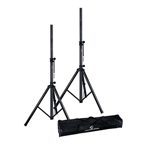 Soundsation - Coppia di supporti per diffusori/speaker con borsa per il trasporto