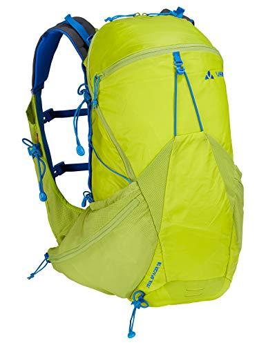 VAUDE Trail Spacer 18, Innovativer Rucksack für Speed Hiking und Biking Sporttasche, 48 cm, 18 Liter, Bright Green