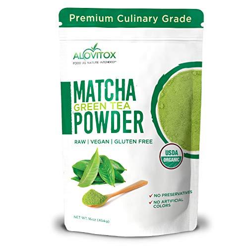 Alovitox Matcha Green Tea Powder | Organic Pure Culinary Grade Chinese Matcha Powder | Antioxidant Rich, Energizing and Versatile Powder for Tea, Baking, Lattes (Culinary Matcha