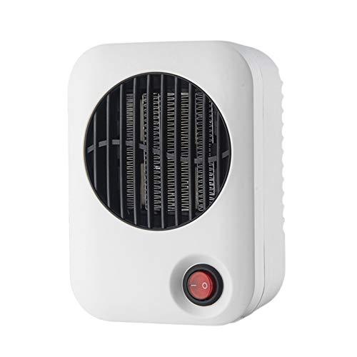 SHPEHP Pequeño Calentador de Espacio,600w Portátil Personal Calentamiento rápido Bajo Consumo Calefactor Eléctrico para Hogar Uso Cerámico Silencioso Termoventilador-Blanco Un