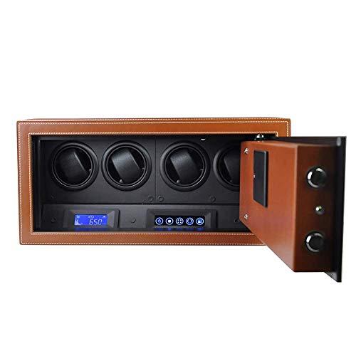Enrollador de reloj, con capacidad para 4 relojes, caja de bobinado de reloj mecánico automático, seguro, suave y flexible, motor importado, diseño antimagnético, enrollador de reloj de 45 40 20 cm