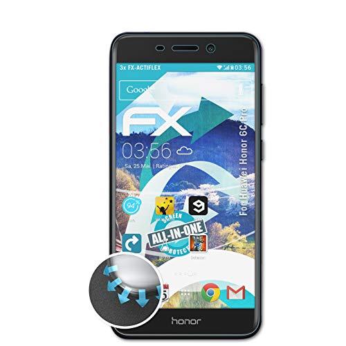 atFolix Schutzfolie kompatibel mit Huawei Honor 6C Pro Folie, ultraklare & Flexible FX Bildschirmschutzfolie (3X)