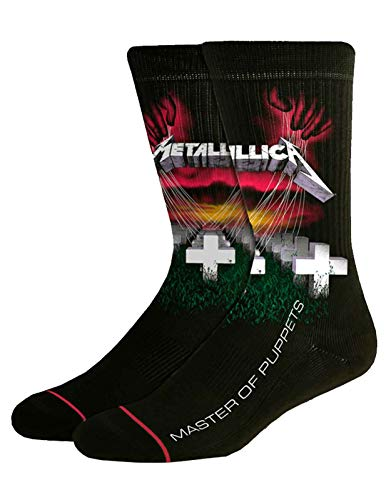 Metallica Socken Master Of Puppets Nue offiziell Herren Schwarz UK Size 8.5-11.5