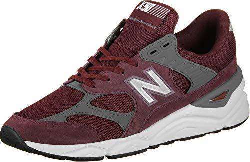 New Balance Herren X-90 Sneaker, Rot (Burgundy/Castlerock Ci), 43 EU