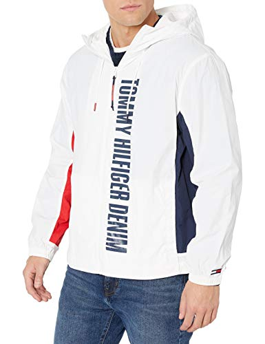 Tommy Hilfiger Men's THD Windbreaker, Bright White, X-Large