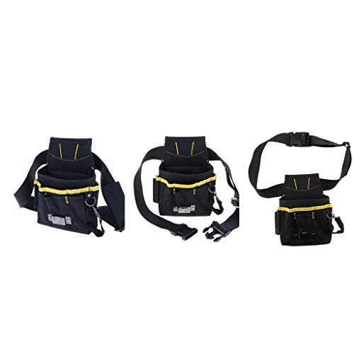 perfk 3 Stück Premium Werkzeug-Gürteltasche mit Nageltasche, großen und kleinen Taschen,...